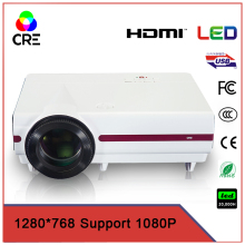 portable low cost  quality  3500 lumens 720p 200inch screen entertainment/business/eductation projector cre x1500 most popular!!