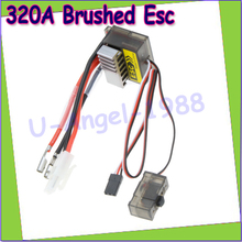 Wholesale 1pcs 320A Brushed ESC Speed Controller /w Reverse for 1/8 1/10 RC Flat/off-road/Monster Truck/Truck Car/Boat Dropship