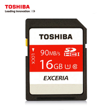 TOSHIBA SD Memory Card 90MB/s 16GB SDHC Card UHS U1 SD Card Class10 Flash Memory Card For Canon OR Nikon  Camera 4K Video DV