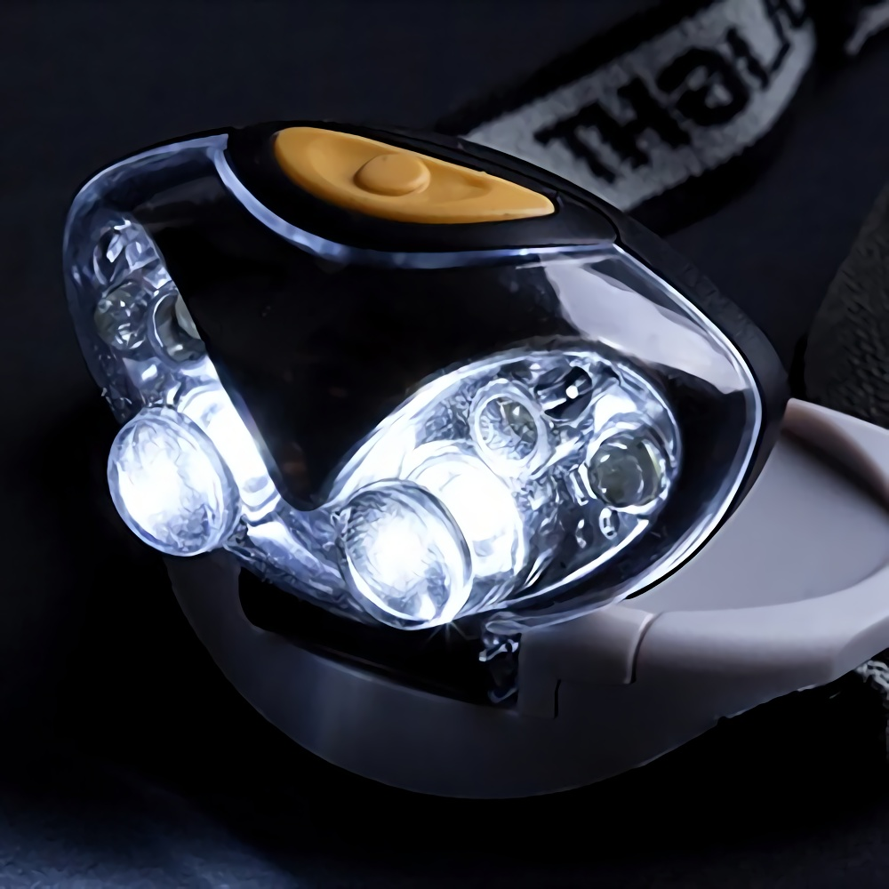 Durable Cat-eye design LED Headlamp with Headband Actual in Dark White LED