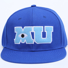 2017 New Brand Pixar Movie Monsters University Sulley Mike MU Letters Baseball Blue Hat Baseball Caps One Piece Vestidos