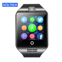 SCELTECH S1 Bluetooth Smart Watch With Camera facebook Sync SMS MP3 WristWatch Support Sim TF For IOS Android Phone pk GT08 DZ09(China)