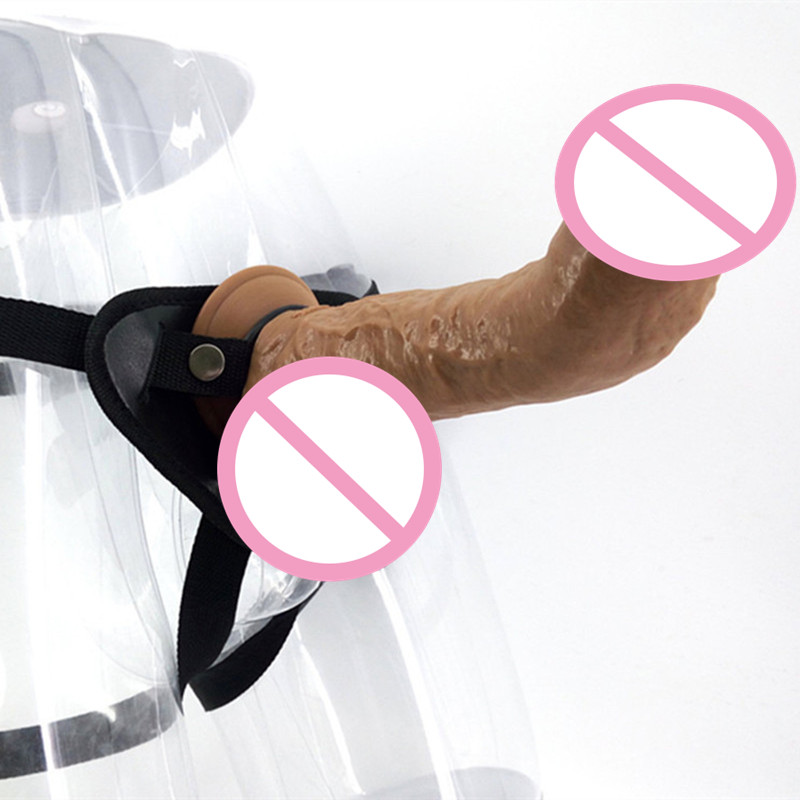 Strap On Dildo Strapless Gay Harness Penis Sex Dildo Marital Intercourse Wearable Realistic Strong Slightly Curved Dildo C3-2-14<br>