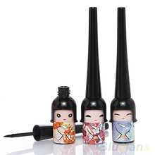 Black Waterproof Cute Doll Eyeliner Liquid Pen Makeup Cosmetic Eye Liner 4DYV(China)