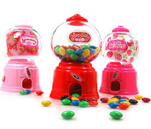 Creative Cute Sweets Mini Candy Machine Bubble Gumball Dispenser Coin Bank box For Kids Toy money box Christmas gift(China)