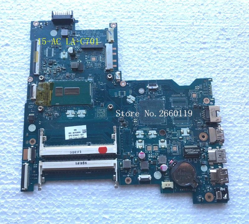 Laptop motherboard for 823922-501 601 001 15-AC AHL50/ABL52 LA-C701P with 3825U,Fully tested