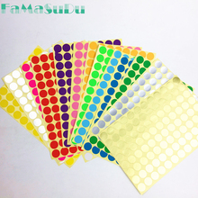 96 dot/sheet 1.6 cm Circle Round Color Coded Label Dot Sticker Inventory Code Tag 15 colors(China)