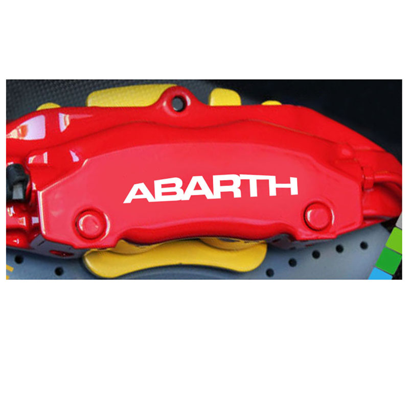 4pcs for abarth HI-TEMP Premium brake caliper decals stickers cast vinyl Sticker title=