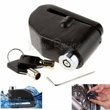 Motorcycle Security Alarm Disk Lock Motorbike Bike Scooter Loud Disc Brake Lock Moto Security Anti-Theft Alarm 2 Keys Waterproof