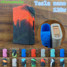 2pcs 2017 newest non stick water proof silicone protective case for mod Tesla nano 120w tc mod 13 different colors free shipping(China)