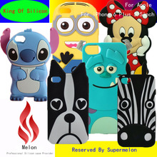 "Cheapest 3D Cute Lovely Cartoon Stitch Minnie Minions Zebra Silicone Soft Back Cover Phone Cases For iPhone 6 Plus 5.5"" 6p"