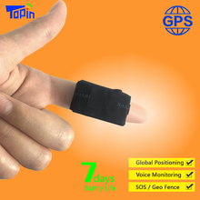 TOPIN Mini GPS Tracker Real-time Call Voice Monitoring Web/App Tracking SMS Control Monitor For Children Pet Luggage Car Locator
