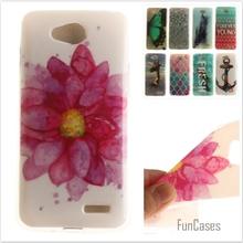 Luxury Quality Soft TPU Butterfly flower Pattern Phone Case for LG Optimus L90 Dual D405 D410 D415 Rubber Silicone Bag Cover