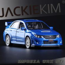 2011 Subaru Impreza 1:36 scale high simulation Coupe,metal pull back WRC STI cars,2 open door,model car toys,free shipping(China)