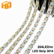 LED Strip 3014 204 LED/meter DC12V Waterproof White / Warm White Super Bright Flexible LED Light 5m/lot(China)
