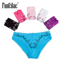 Buy FUNCILAC Women Panties Cotton Underwear Sexy Panty Knickers Underpants Ladies Underwear Floral String Femme 5pcs/lot