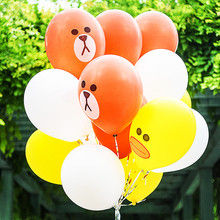 12inch 30pcs /lot print Cartoon rabbit lines globos gifts festival Birthday latex balloons inflatable helium Balloons Party Toy(China)