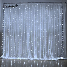 Tanbaby LED Curtain light 3x3M 300 leds Icicle String Lights 8 Modes for Wedding Festival Party Ceremony Christmas decoration(China)
