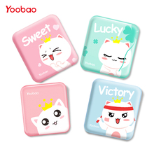 Yoobao Cute Power Bank 10000 mAh For Xiaomi Mi 2 USB Small Pover Bank Mini Portable External Battery PoverBank For iPhone 6 5 4(China)
