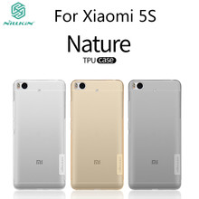 5.15 inch Nillkin Nature Transparent Clear Soft silicon TPU Protector cover for xiaomi mi mi5s case retail package for xiaomi 5s