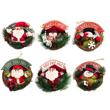 New Toy Christmas Gift Dolls Santa Claus Snowman Xmas Tree Hanging Ornaments Christmas Decorations Home New Year Party