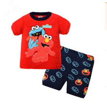 Summer Children Pajamas Sets Sesame Street Boy Home Wear Underclothes Cotton Sportsuit All for Kid Clothing And Accessories