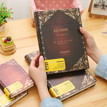 Orginal Office Stationery Retro Classic Notebook 4 Sizes Notebooks Caderno Journal Periodical Planner Sketchbook Papelaria(China)