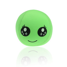 Hot Sale Easter Gift Soft Doll Toys Home Smiley Emoticon Lovely Round Cushion Pillow Stuffed Toy Green Peluche Brinquedos(China)