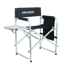ANCHEER Outdoor Recreation Director's Chair Portable Folding Fishing Chair With Side Table for Camping Hiking Fishing