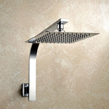 8 inch Premium Quality Stainless Steel Rainfall Shower Head Extension Gooseneck Shower Arm Set 03-111(China)