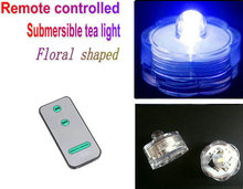 Remote controlled Floralyte Submersible Vase led tea Lights tealight Candle lamp w/controller waterproof underwater 12pcs/pack