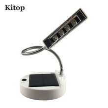 Kitop 4 LED Rechargeable Solar Desk Lamp,USB Book Light,Laptop Reading Light, Flexible Gooseneck Design, IP55 Waterproof camping - officical Store store