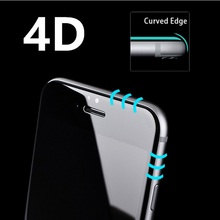 3D Round (4D)Curved Edge Tempered Glass For iPhone 6 6s 7 Plus Full Cover Protective Premium Screen Protector Film Safety Case