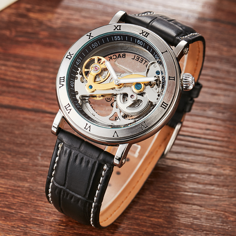 New Arrival Romal Luxury Mechanical Man Wristwatch Self-Winding Automatic Wristwatch Classic Business Watch Relogio Masculino<br>