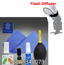 Universal Soft Flash Cloth Bounce Diffuser Softbox & Camera Cleaner Cleaning Kit 7 in 1 for nikon