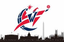 Washington Wizards skyline 3ftx5ft  Banner 100D Polyester Flag 2 metal Grommets  31165-1