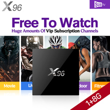 Smart X96 Android 6.0 Smart TV Set Top Box S905X IPTV STB Arabic IPTV French Italy Europe IPTV Subscription 1 Year Account(China)
