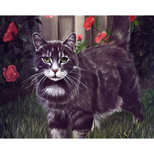 Beautiful DIY Cat Digital Paint Oil Painting Number Digital Canva Wall Picture Living Room Cafe Bar Decor Print Poster Free Ship