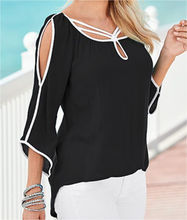 New Fashion Women's Loose Chiffon Tops 3/4 Sleeve Shirt Casual Blouse Women Summer Clothes