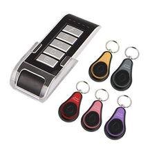 Wireless Electronic Key Finder Reminder With 5 Keychain Receivers For Lost Keys Locator Whistle Key Finder
