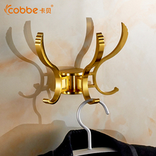Modern Gold/Silver Coat Hanger Wall Mount Aluminum Bathroom Accessories Of Clothes Hooks Restroom Coat Rack Wall Cobbe5303 5303G