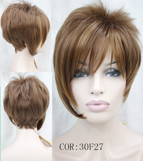 Hot sale pixie cut Synthetic hair wigs for women Short straight hair auburn wigs with bangs10pcs/lot free shipping<br><br>Aliexpress