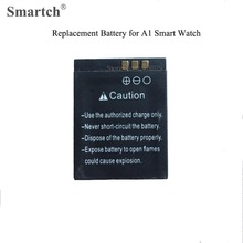 20pcs Replacement Battery for Smart Watch A1,Capacity 3.7V/380mAh,Free Shipping via Registered Post(China)