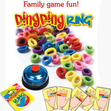 Funny Challenge Ring Ding Toy Family Party Games Great Practical Gadgets For 2-6 players with 24 picture cards 60 Hair 1 Bell(China)