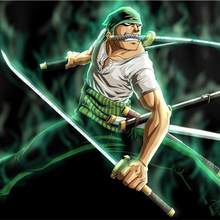 Home Decor Kids Wall Stickers Roronoa Zoro Custom Canvas Wallpapers One Piece Figure Posters Piece Anime