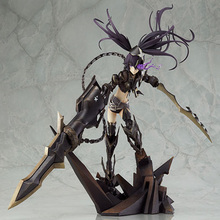 Classic Anime Cosplay 27cm 10.6'' Boxed INSANE Black Rock Shooter Action Figures Garage Kit Model Men Game Toys Collection