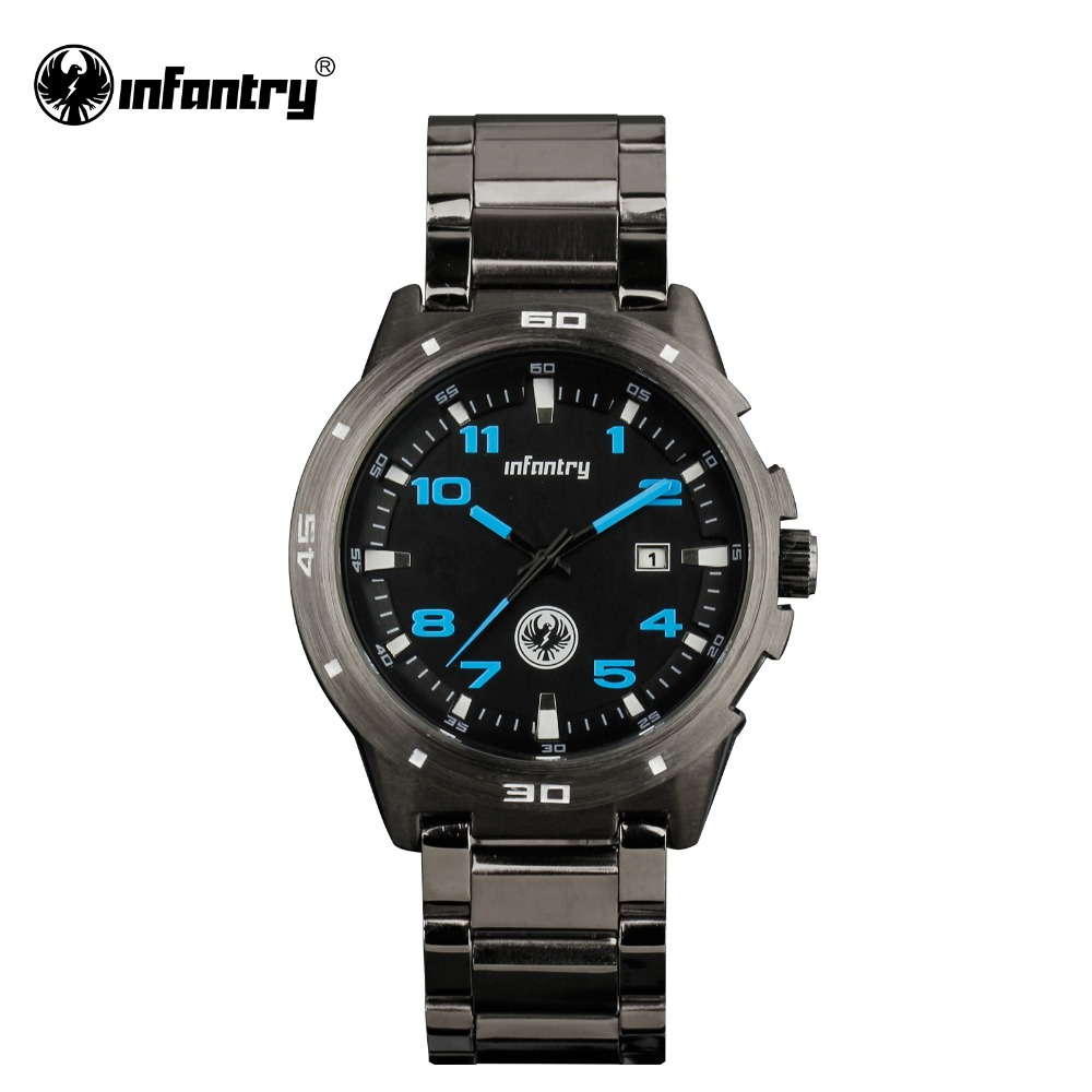 INFANTRY Watch Top Brand Luxury Military Wrist Watches for Men Full Steel Auto Date Waterproof Army Watches Relogio Masculino<br><br>Aliexpress