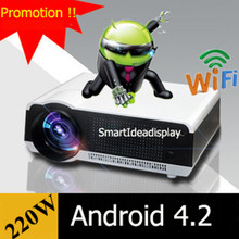 2015 Updated !! 1080P Full HD LED 3D Daytime Projector Android 4.2 Wifi System Build-in 220W LED lamp Perfect for home theater