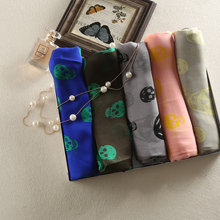 Sell Top Quality Silk Scarf Skull Pattern Luxury Bag Packing Silk Square Scarves Wraps Super Soft Hot Multi Colors Free Shipping(China)