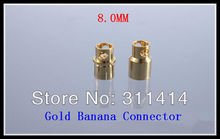 10pairs/lot 8.0mm 8mm Golden Banana Connectors Plug Set For RC Battery ESC Brushless Motor High Quality Retail Dropshipping(China)